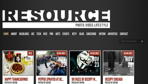 Resources mag screen shot
