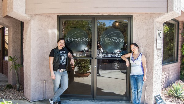 Marnie Navarro and Melissa Snyder of LIFEWORK Gallery. All photos by Melissa Avery