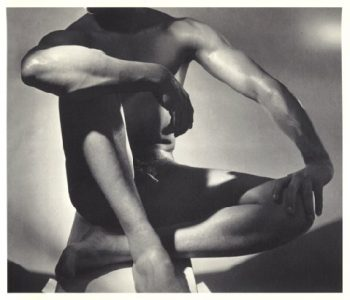 "Horst, Horst P. ""Male Nude (frontal, Sitting)."" 1952. Digital image. Wessel O'Connor Fine Art: Fine Vintage and Contemporary Photography. Accessed June 24, 2016. http://wesseloconnor.com/exhibits/Horst/index.php."
